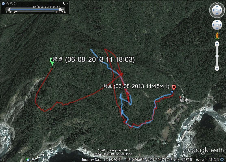 綠水文山步道軌跡記錄